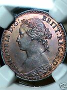1874h Farthing 1/4p Ngc Population 1 Highest Graded And Only One Ngc Ms65