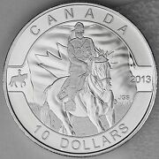 2013 10 Royal Canadian Mounted Police Rcmp .9999 Silver Matte Proof O Canada 3