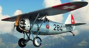 D.9 Dewoitine France Fighter Airplane D9 Mahogany Kiln Dry Wood Model Small New