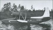 Norsk Flyindustri Finnmark 5a Amphibious Airliner Aircraft Wood Model Large New