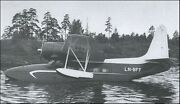Norsk Flyindustri Finnmark 5a Amphibious Airliner Aircraft Wood Model Small New