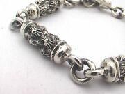 Taxco Mexican 925 Sterling Silver Cylinder Chain Bracelets. 52g- 62g 8.1- 8.7