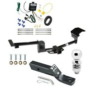 Trailer Tow Hitch For 15-17 Lincoln Mkt Complete Package W/ Wiring Kit And 2 Ball