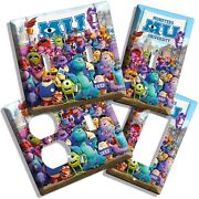 Monsters Inc University Mike Sully Light Switch Cover Outlet Kids Room Decor Art