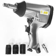 1/2 Drive Air Impact Gun Extended Anvil With 3 Socket Set Wrench Automotive