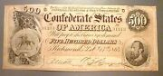 T-64 Popular 1864 500 Confederate Issue, Stonewall Jackson Uncirculated