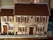 Fully Built. Wooden Doll House Lianaand039s Placehandmade Of Wood 112 Scale