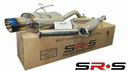Srs Stainless Steel Catback Exhaust System 92-00 Civic 2/4dr Type-re Burnt Tip