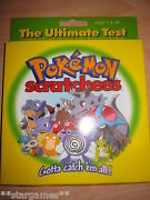 Pokemon Retired Game Box Decipher Scratchees Sealed Mint Never Opened 2000