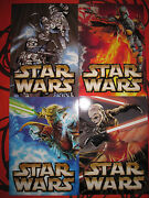 Star Wars Unleashed Complete Full Set 4 Promo Cards 2003 Jedi Con Postcards