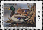 Louisiana 25 2013 State Duck Stamp Mallards By Ronald Louque