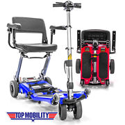 Luggie Elite Folding Travel Senior Top Mobility Lithium Powered Scooter 10.5ah