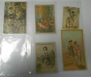 Vintage Victorian Trade / Ad Cards Invincible Stoves Royal Fish Soap Lot Of 3 Vg