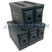 Stenciled 5-pack New 30 Cal M19a1 Mil Spec Empty Ammo Cans
