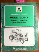 Allis-chalmers 608lt Lawn Tractor With Snowblower 1690241 Owner Operator Manual