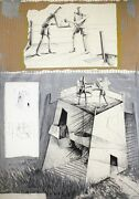 Andres Nagel - Etching And Collage Signed And Numbered Ed.75   Contemporary Art