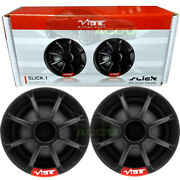 Vibe Audio Slick1 V7 150w Car Silk Dome Tweeters And Inline Passive Crossovers Set