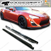 For 13-16 Scion Frs Gt86 Bottom Line Jdm Style Flat Side Skirts Rockers Pu