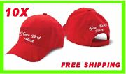Buy 10 Cap Hat White, Black, Red Or Khaky Custom Embroidered Personalized
