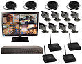 8 Channel Sony Bullet Camera Color Wireless Digital Video Recording System