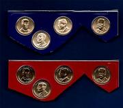 2013 P And D Uncirculated Presidential Dollars -eight Coins-from Mint Set-bu