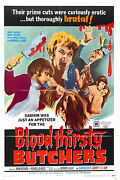 Bloodthirsty Butchers Movie Poster Horror 80's Vhs Art