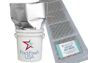 Packfreshusa 6 Pack Five Gallon Mylar Bags + 2000cc And 500cc Oxygen Absorbers