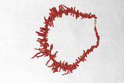Vintage Estate Angel Skin Red Branch Coral 21 L Necklace Goldplated Screw Clasp