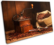Coffee Grinder Beans Food Kitchen Single Canvas Wall Art Picture Print Va