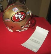 Jerry Rice 3 Time Sb Champion Autograph 49ers Full Helmet Limited Edition Of 80