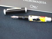 Omas Tauromaquia Sterling Silver Fountain Pen Limited Edition