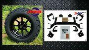 Ezgo Txt Electric Golf Cart 6 Lift Kit + 14 Hydra Wheels And 23 At Tires
