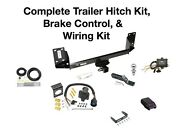 Complete Trailer Hitch Kit, Wiring Kit, And Brake Control Fits A Bmw X5 2007-2018