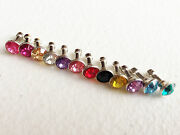 Lot Bling Gems 3.5mm Jack Dust Plug For Apple Iphone 6 4 4s 5 Ipod Touch Nano 7