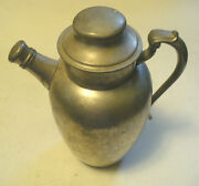 1 3-piece Vintage Antique Pewter Water Tea Coffee Pot Pitcher, Pewter Hoard