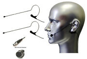 2pcs Black Color Headset Mic Earhook Microphone For Shure Wireless Body Pack