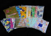 Vintage Wrapping Paper Gift Wrap Lot Birthday Baby Sports Foil Floral 29 Packs