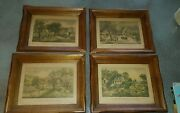 Currier And Ives Lot 4 Framed Print American Homestead Spring Summer Autumn Winter