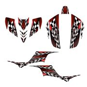 Kfx 700 Graphics Decal Kit 24 Mil Thick Durable Racing Vinyl 2500 Red