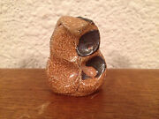 Small Unknown Age Studio Pottery Signed DW Abstract Sculpture