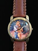 New Disney Pocahontas John Smith Limited Edition Collector Watch And Leather Pouch