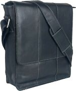 Unicorn Real Leather Ipad Kindle Tablets And Accessories Messenger Bag Black 4e