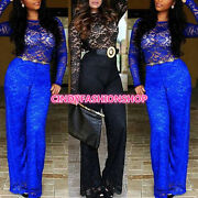 Fashion Sexy Lace Women Long Sleeve Bodycon Jumpsuitsandrompers Party Clubwear