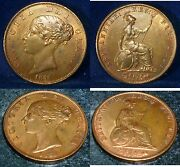 1858 Uk Half Penny High Grade Uncirculated One Of The Best