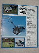 1970and039s Bcs 735 Garden Tiller Tractor And Attachments 8 Page Brochure Mint
