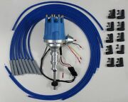 Ford Y Block 256-272-292-312 Blue Small Hei Distributor + Universal Plug Wires