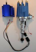 Ford Y Block 256-272-292-312 Blue Small Hei Distributor And 50000 Volt Blue Coil