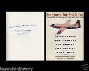 Chuck Yeager Autographed Signed Book X 1 Sound Barrier The Quest For Mach One