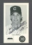 Turk Wendell Signed Chicago Cubs Team Issued Postcard