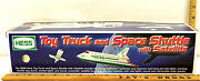 1999 Hess Toy Truck And Space Shuttle With Satellite Semi Transporter Amerada Nib